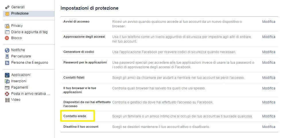 Designa l'erede Facebook che si occuperà della tua pagina, quando tornerai polvere