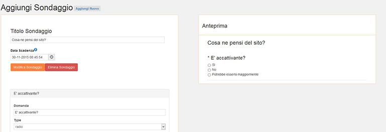 Anteprima sondaggi WordPress