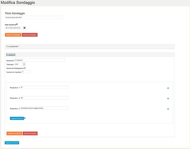 Modifica Domande sondaggi WordPress